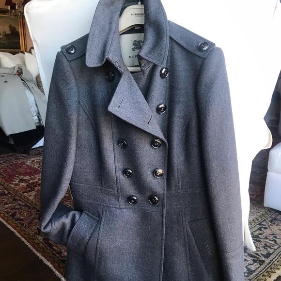 Burberry Jackets & Blazers - Bearly worm charcoal Burberry coat, size 10!